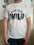 Born to be wild vinyl t-shirt design