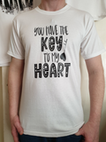 You have the key to my heart design vinyl t-shirt