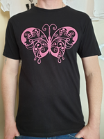 Butterfly design vinyl t-shirt