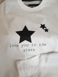 Love you to the stars vinyl t-shirt design