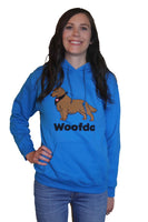 Woofda Gildan Heavy Blend Hooded Sweatshirt in Sapphire