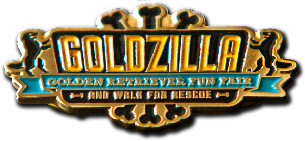 Goldzilla Collectible Pin