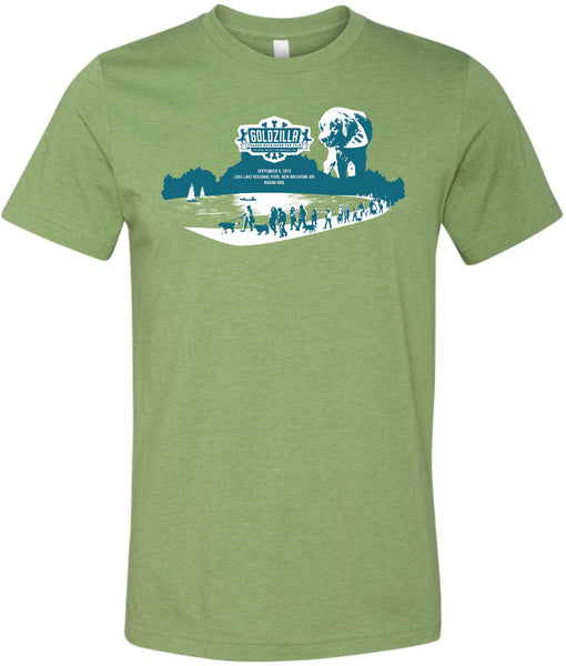 2018 Goldzilla T-Shirt - Heather Green