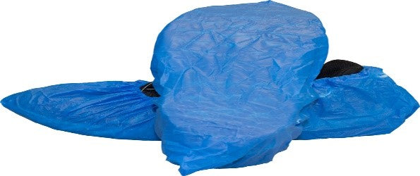 Blue Cast Polyethylene Shoe Cover XL Box of 150