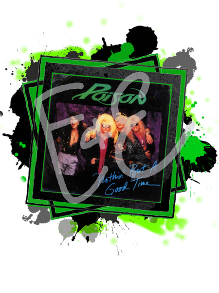 Rock band  - splash - png file, digital instant download image