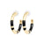 Black Enamel and Gold Tone Hoops
