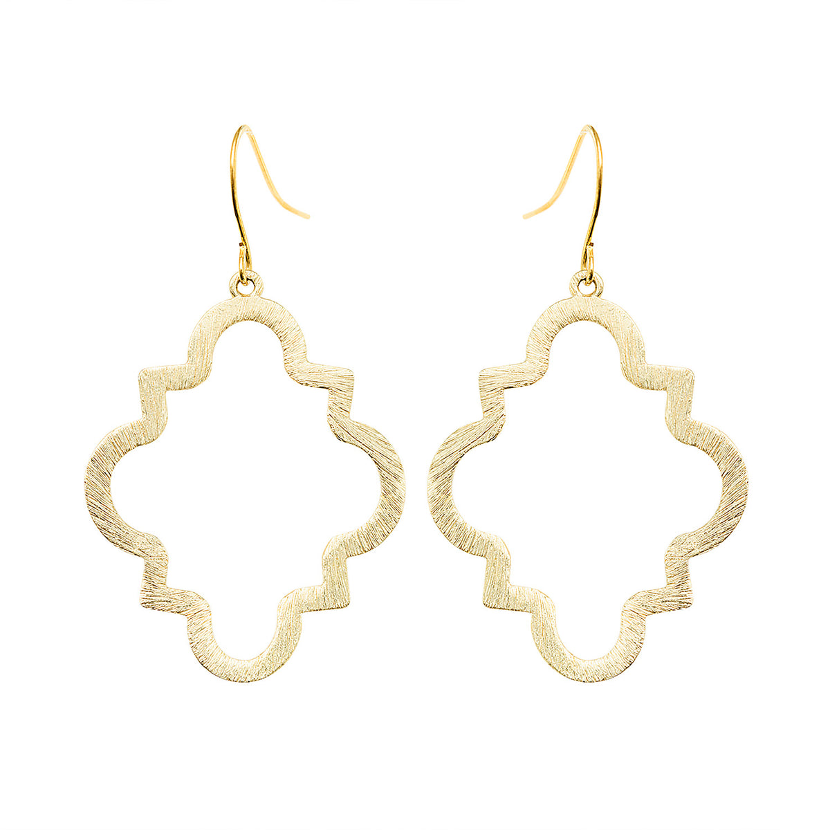 Geometric Quatrefoil Cutout Earrings