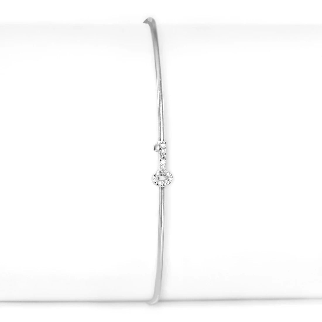Sterling Silver and Diamond Key Cuff