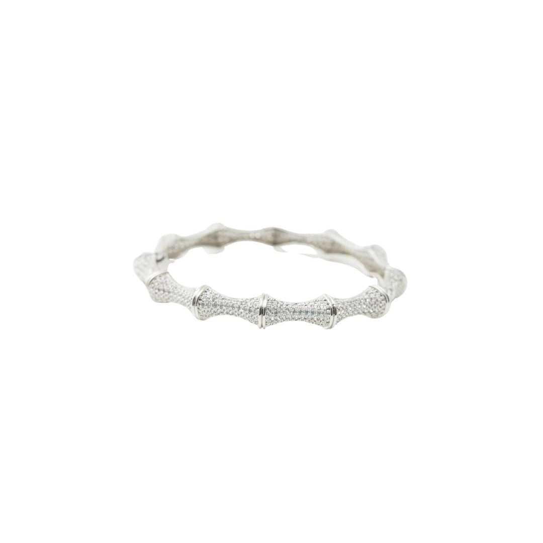 Micro Pave Bamboo Bangle