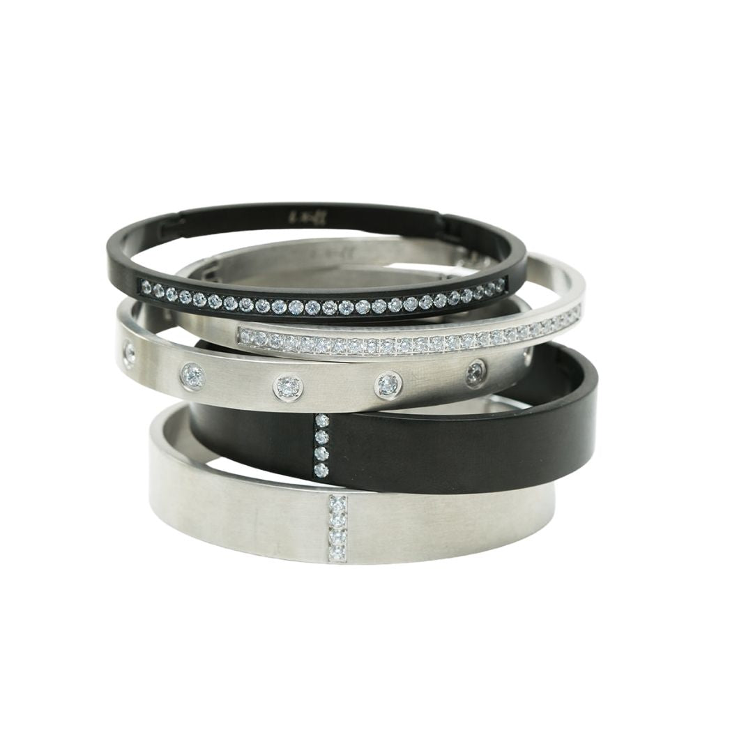Thin Plain Stainless Steel Bangle