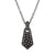 Gunmetal Pendant Necklace with Diamonds