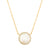 Pave Rimmed Mother of Pearl Necklace