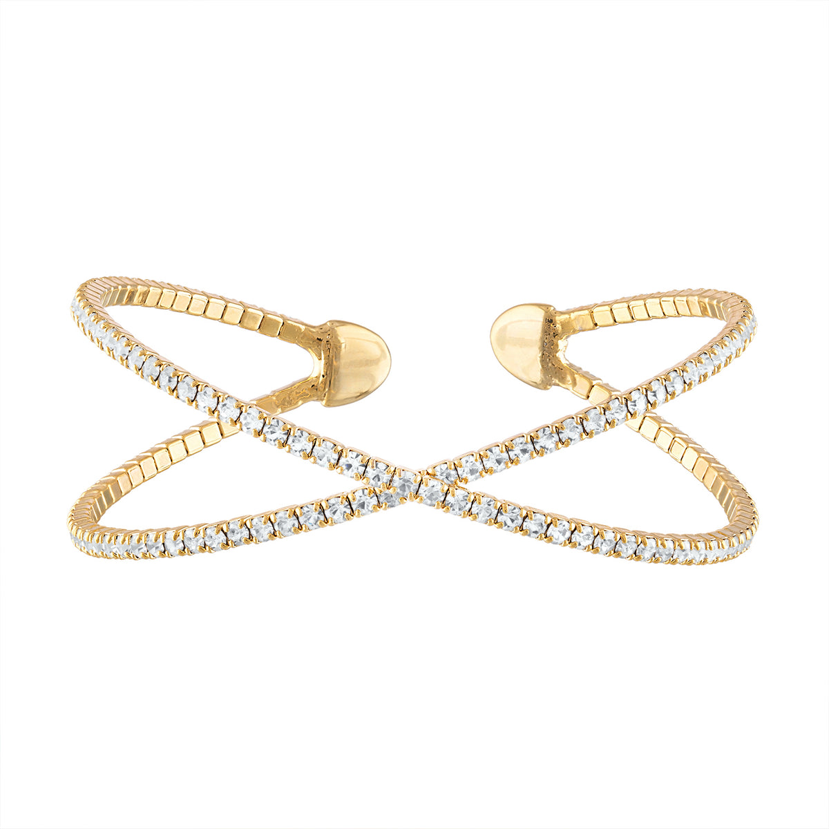 Pave Criss Cross Cuff