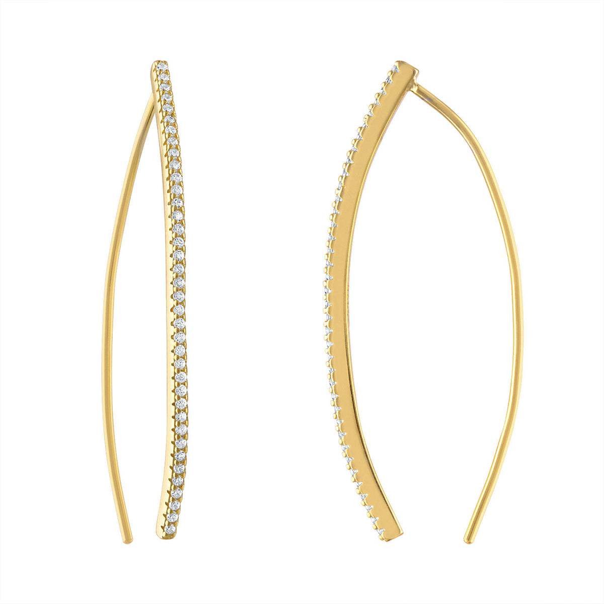 Pave Wire Earrings