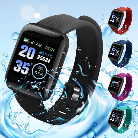 116 Plus Smart Watch & Fitness Tracker (5 colours)