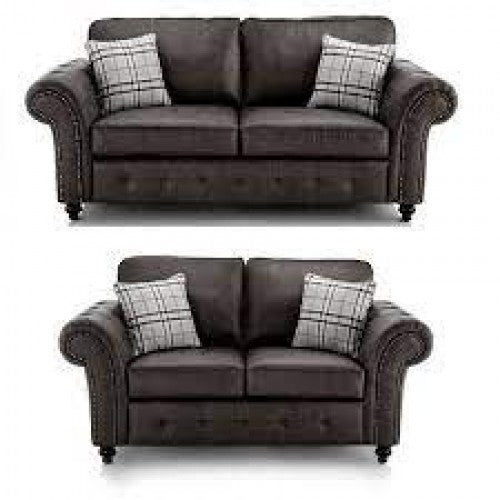 Faux Leather 3+2 Seater Sofas - Black or Brown