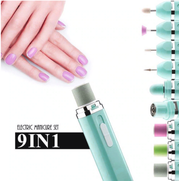 9-in-1 Manicure and Pedicure Electric Nail Drill Set