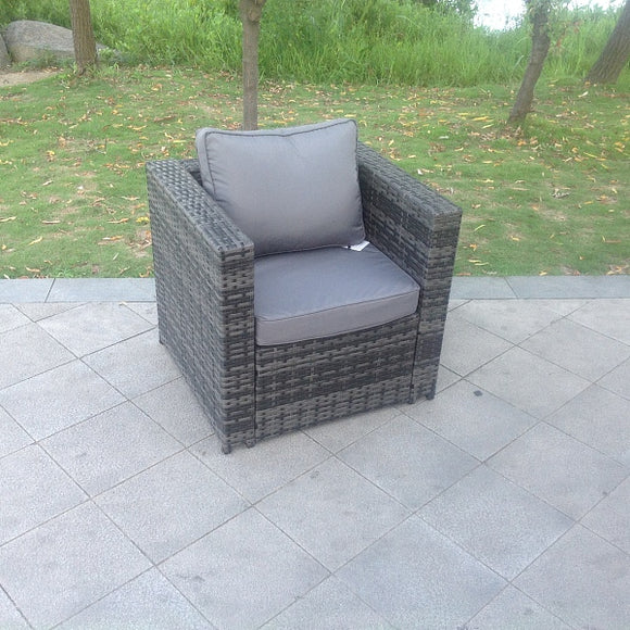 Outdoor Rattan Chair - Grey