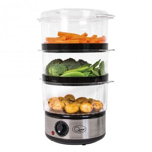 3 Layer Compact Vegetable And Rice Steamer