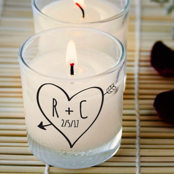 Personalised Sketch Heart Scented Candle