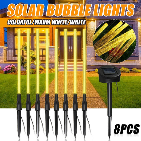Solar Powered LED Bubble Tube Garden Lights
