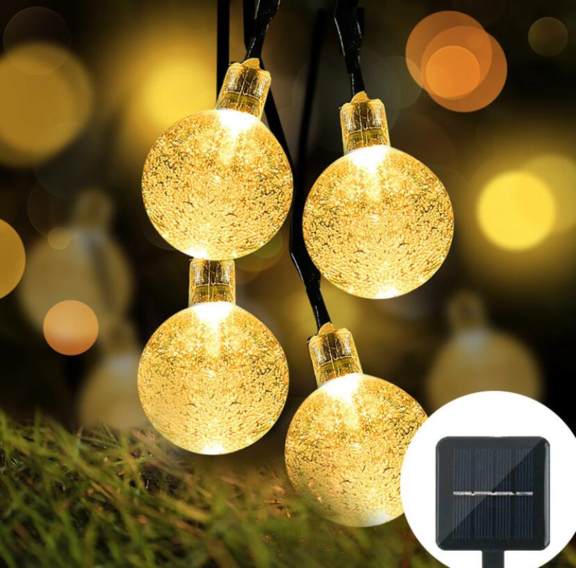 Solar Festoon Outdoor String Light - Warm, White or Colourful