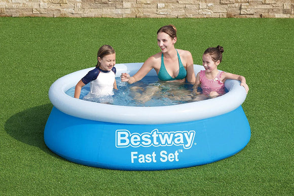 6ft Round Inflatable Family Swimming/ Paddling Pool