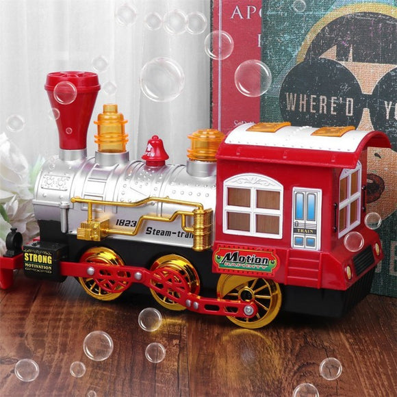 Bubble Blowing Steam Train Toy