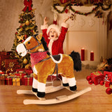 Classic Wooden Ride-On Rocking Horse With Sounds