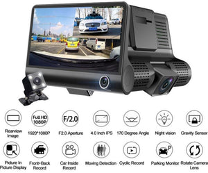 HD Front and Rear Video Dash Cam - Optional 32GB SD!