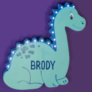 Personalised Dinosaur LED Wall Light