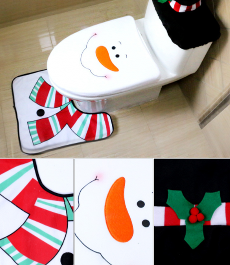 Festive Christmas Toilet Seat Cover