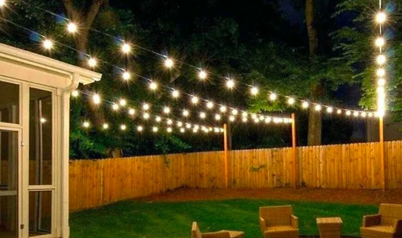 10 or 20 LED Garden Solar Bulb Lights - 2 Colours