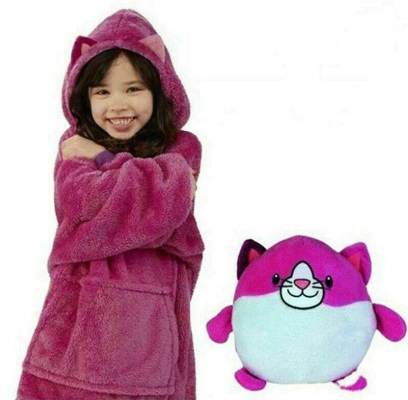 2-in-1 Kids Snuggle Hoodie and Soft Toy