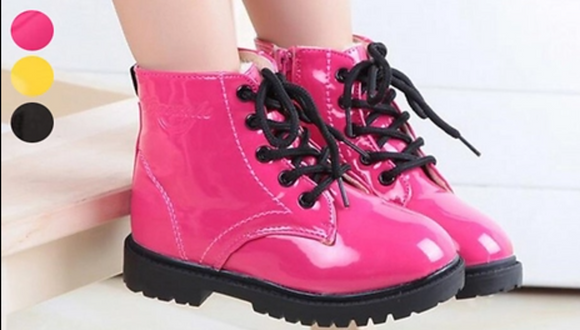 Kids Patent Winter Boots - 3 Colours