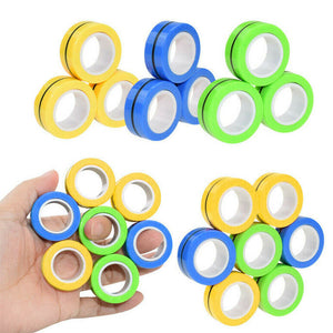 Anti-Stress Finger Fidget Magnetic Rings