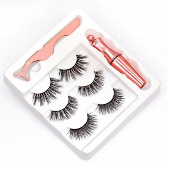 Magnetic Eyelashes and Eyeliner Kit- 3 pack