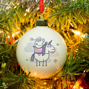 Personalised Peppa Pig™ Bauble