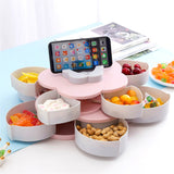 Rotating Snack Tray - Pink or Blue