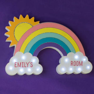 Personalised Rainbow LED Wall Light