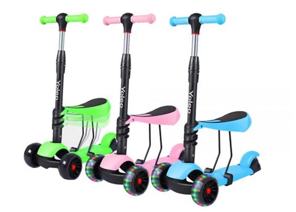3-In-1 Push Scooter - 3 Colours