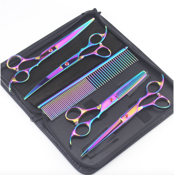 6pc Dog Grooming Scissors Set with Case