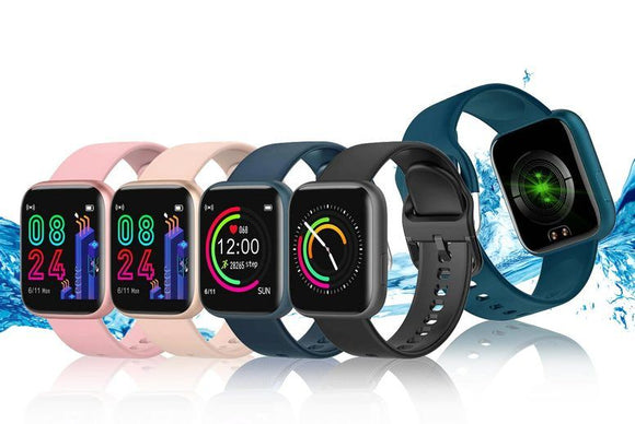Smart Apple Compatible Silicone Sports Watch with Heart Rate Monitor - 4 Colours!