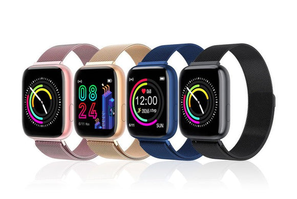 Smart Apple Compatible Steel Sports Watch with Heart Rate Monitor - 4 Colours!