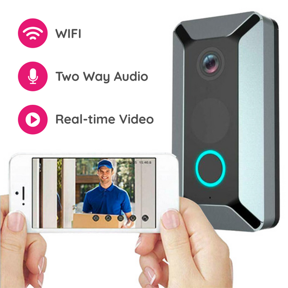 Smart WiFi Security Video Doorbell - 2 Colours!