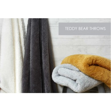 Supersoft Teddy Fleece Throws - 4 Colours