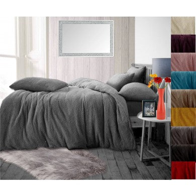Teddy Fleece Luxury Duvet Cover Bed Set - 5 Colours