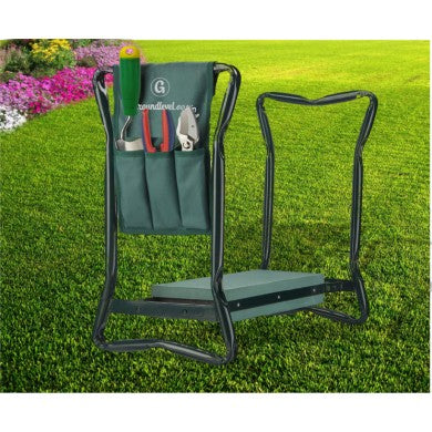 2-in-1 Foldable Garden Kneeler and Seat with Tool Bag