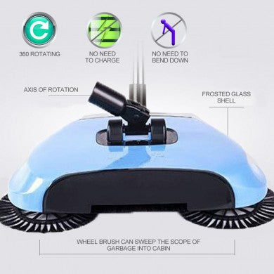 Wide Mouth Hard Floor Sweeper - 5 Colours