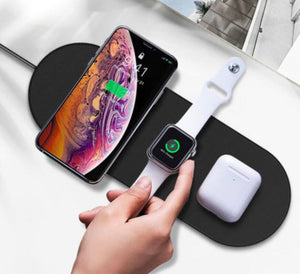 3in1 Wireless Charger Pad For Phone, Apple Watch, and AirPods